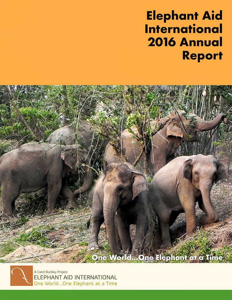 Elephant Aid International 2016 Annual Report