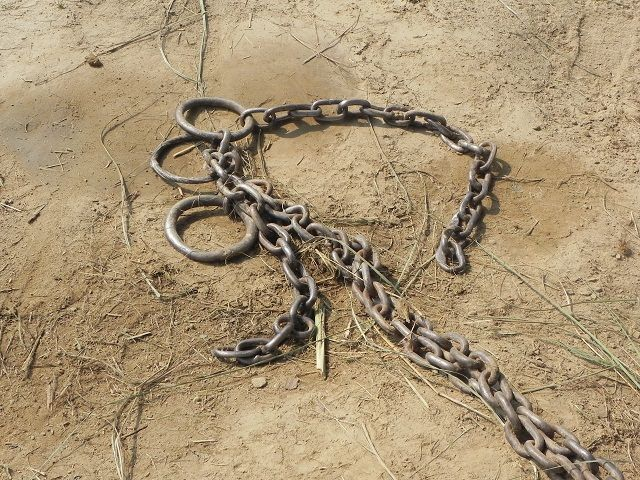 discarded chain
