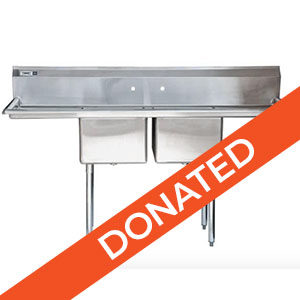 stainless steel sink for elephant barn donated