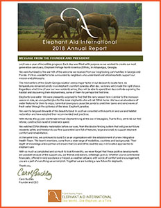 Elephant Aid International 2018 Annual Report