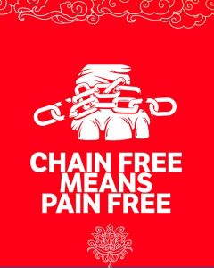chain free prayer flag